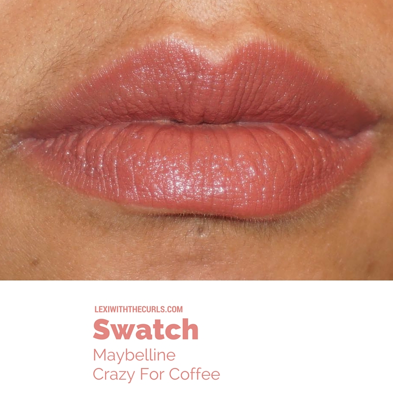 maybelline crazy for coffee swatch