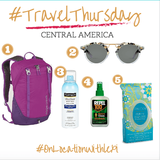 #TravelThursday What To Pack For A Vacay To Central America
