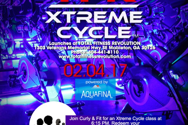 #CurlyAndFit Join Me For A Free Xtreme Cycle Class 2/4