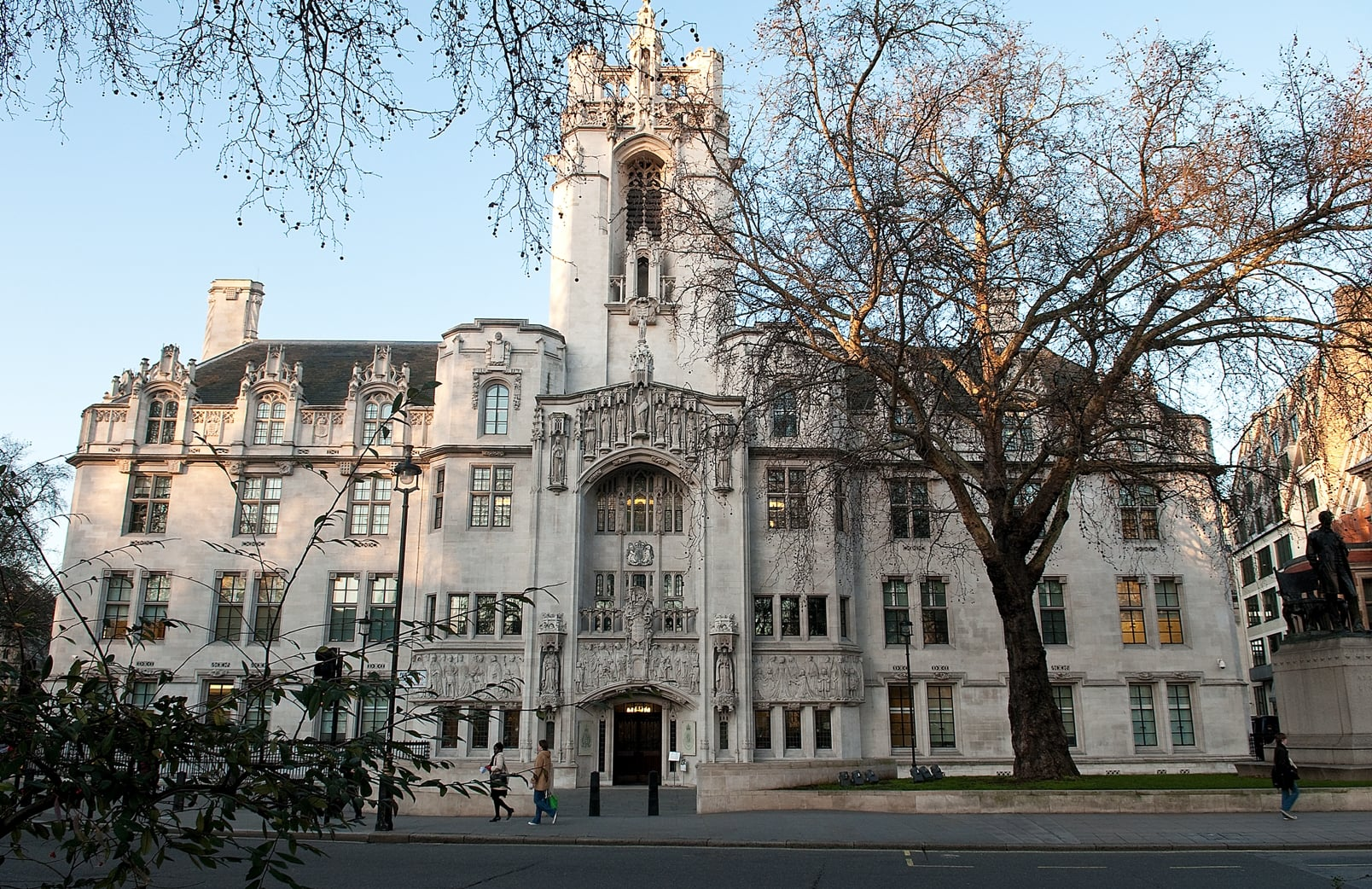 Supreme court london westminster law judges judgment thames old facade building lady hale uk
