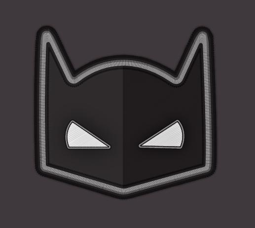 Batman badge in Illustrator