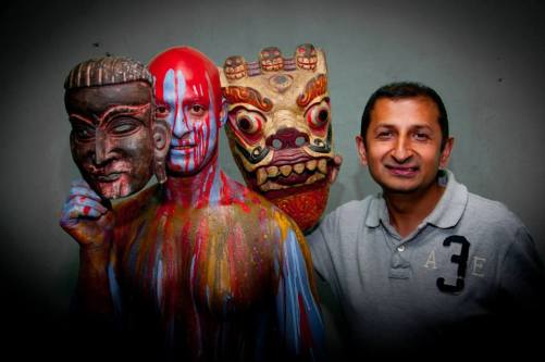 Binod Shahi with artist Kapil Mani Dixit