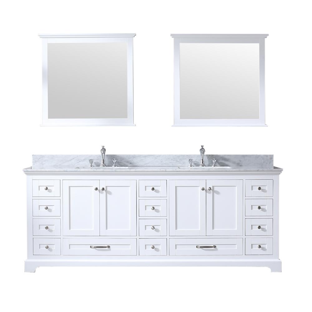 dukes 84 white double vanity white