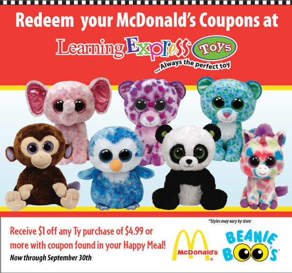 """7bbceb4c041 Starting in July all """"girl"""" Happy Meals will come with a super awesome  limited collectors edition Teenie Beanie Boo"""