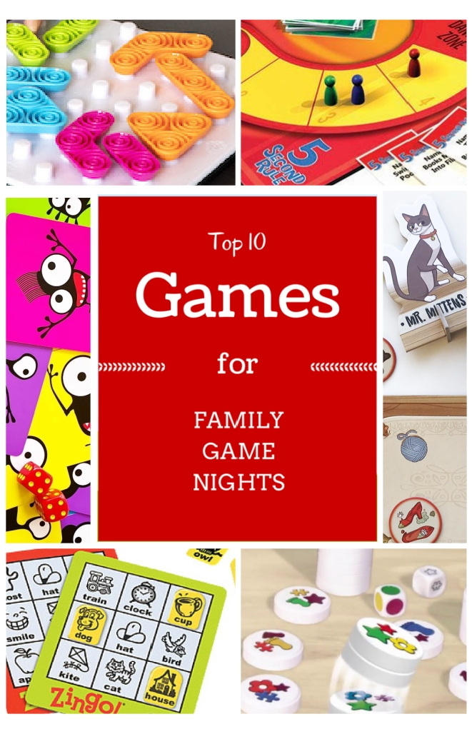 Top 10 Games for your next Family Game Night