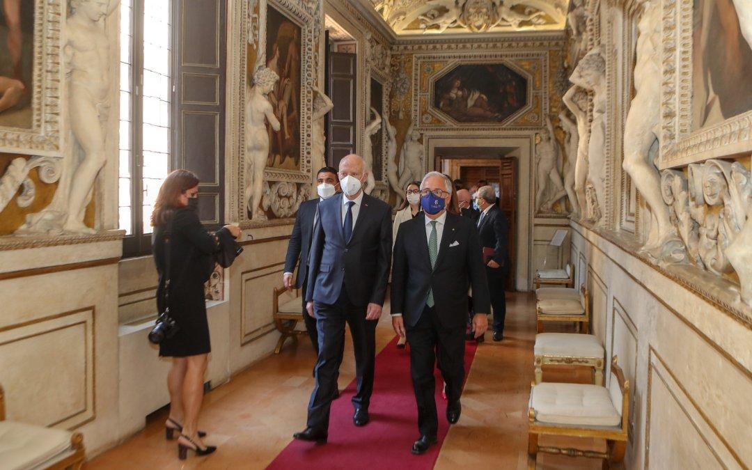 التقى رئيس الجمهورية قيس سعيد، برئيس مجلس الدولة الإيطالي السيد ريكاردو فيرجيلو.