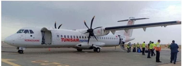 وصول أول رحلة للخطوط التونسية السريعة إلى مطار طرابلس