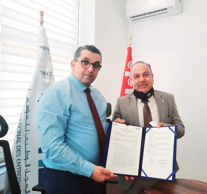 إمضاء مذكرة تفاهم بين المركز الوطني لسجل المؤسسات  و الوكالة التونسية للانترنات