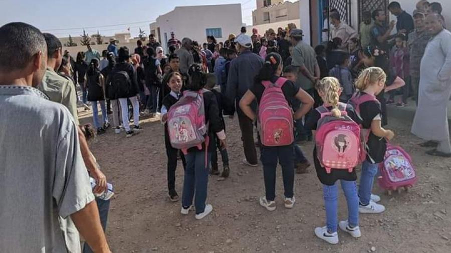 أهالي ذهيبة يرفضون عودة أبنائهم إلى المدرسة (صور)