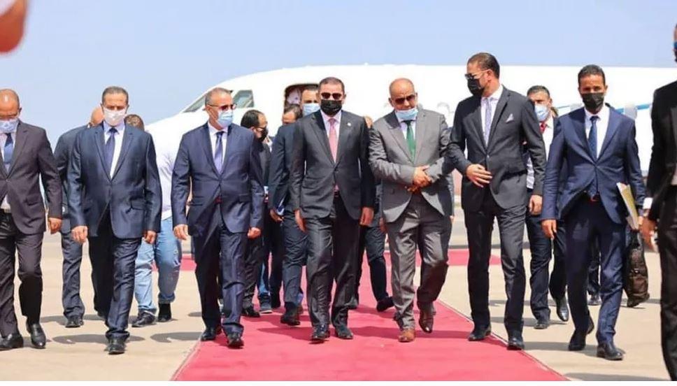 وصول رئيس الحكومة الليبية عبد الحميد الدبيبة إلى تونس