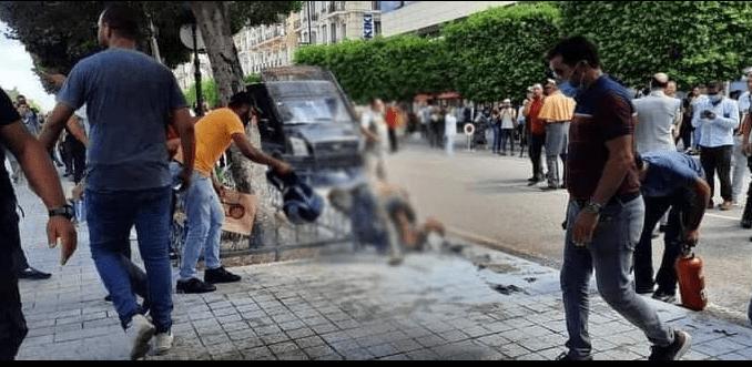 مواطن يضرم النار في جسده بشارع الحبيب بورقيبة