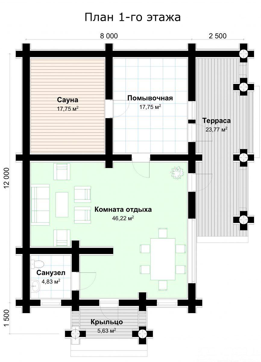 Баня-план