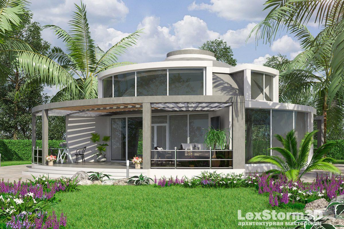 Купольный дом модерн