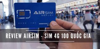Review Sim 4G Airsim 100 quoc gia