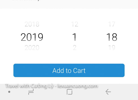 Select the start date using plans!