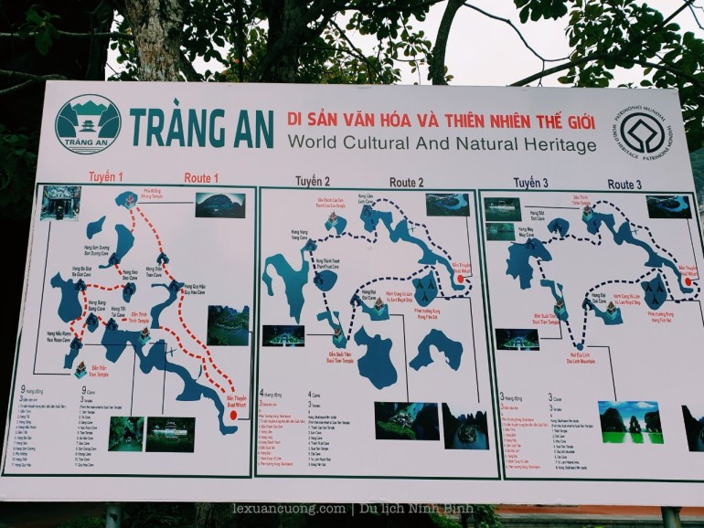 The sightseeing routes are in Trang An.