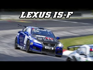 Lexus IS-F CCS-R – nice V8 sounds and downshifts (VLN)