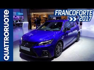 Lexus CT Hybrid restyling al Salone di Francoforte 2017 | Quattroruote