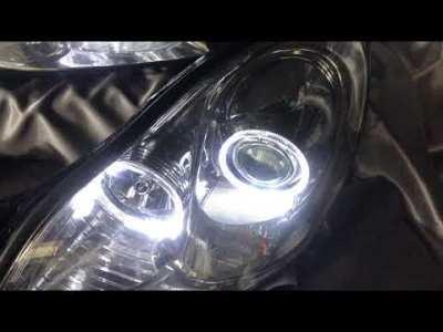 レクサス SC 4連LEDイカリング ドレスアップヘッドライト Lexus SC LED Customheadlights