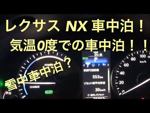 レクサス NXで車中泊 気温0度の車中泊