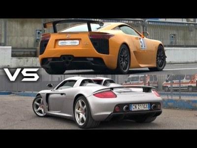 Lexus LFA vs. Porsche Carrera GT Sound Comparison – Which Sounds Better?!