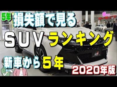 5年!損失額で見るSUVランキング2020年版【下剋上】新車から5年で売って一番お金の損が少ないSUVは?リセールバリューの高いあの車が…国産車編