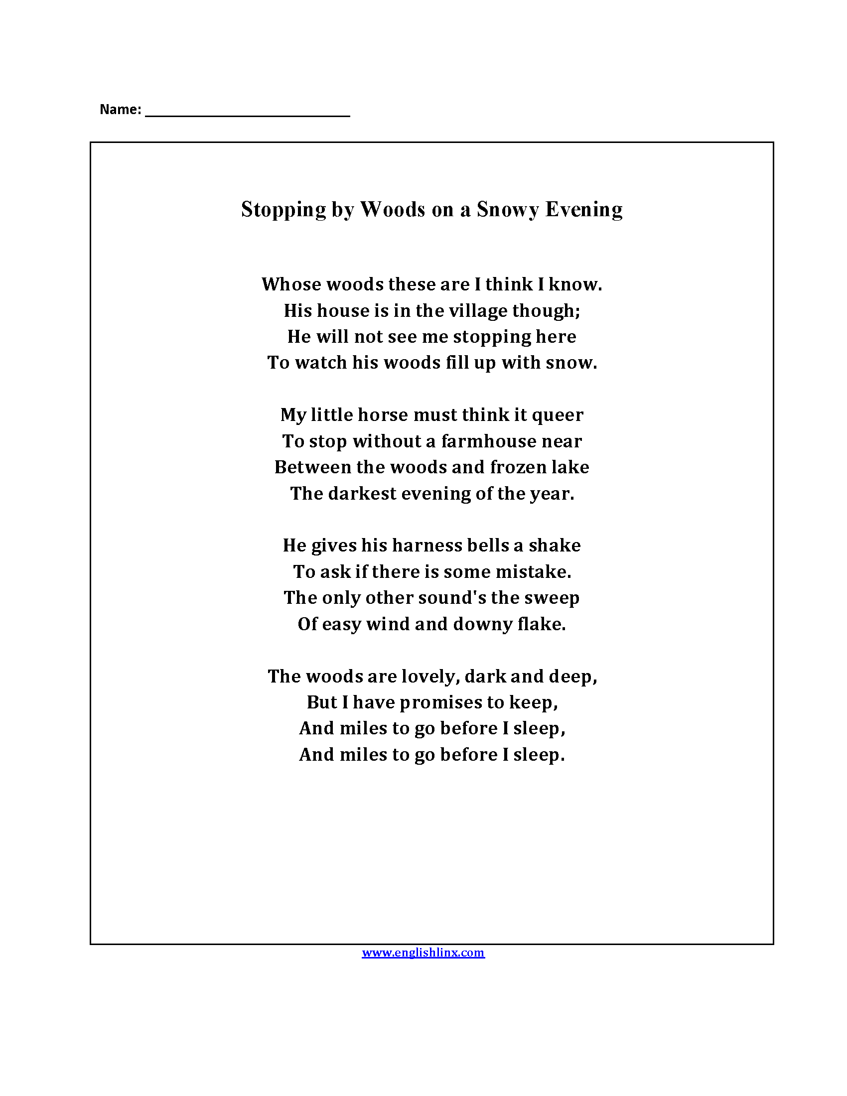 hight resolution of Intro To Poetry Worksheet   Printable Worksheets and Activities for  Teachers