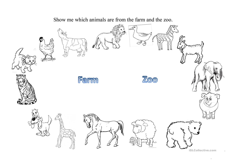 Zoo Animals Worksheet