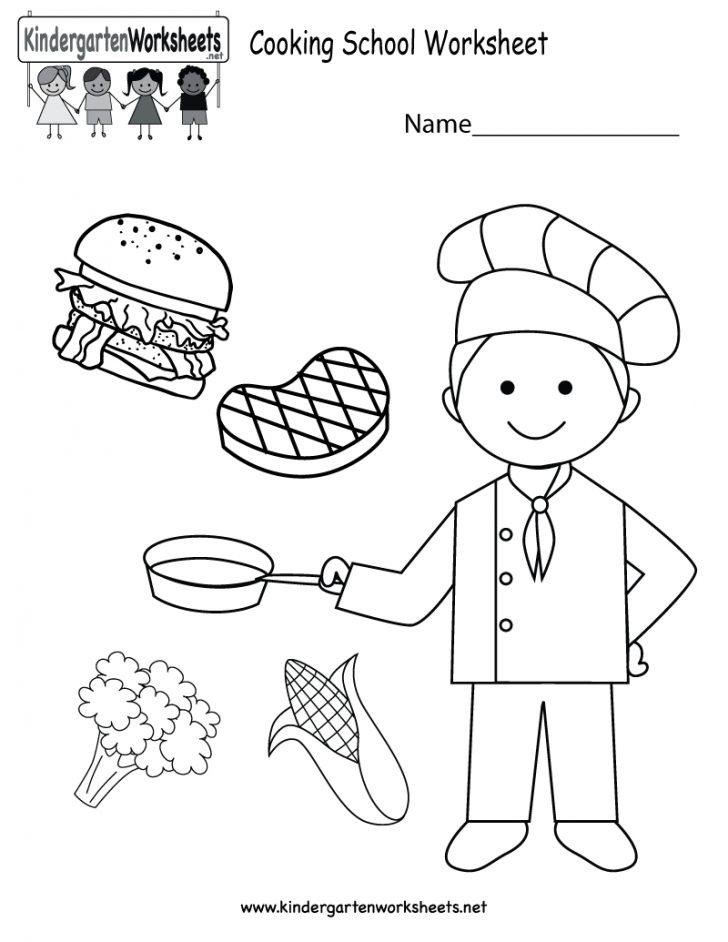 Free Printable Cooking School Worksheet For Kindergarten