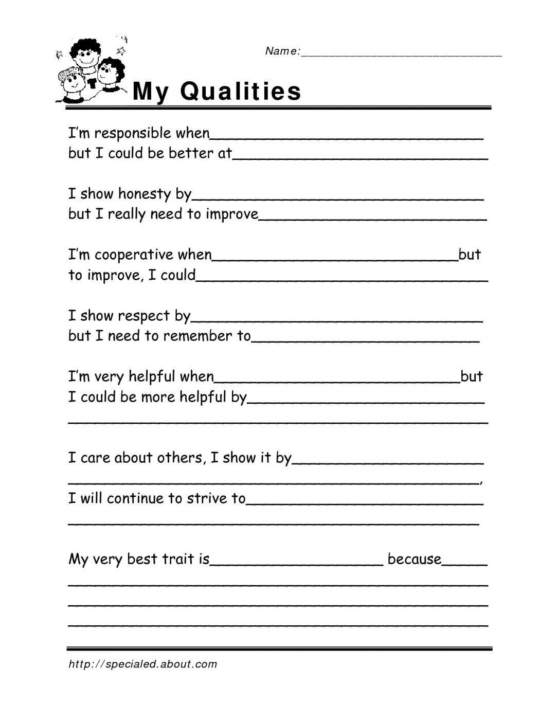20 Printable Self Esteem Worksheets For Adults