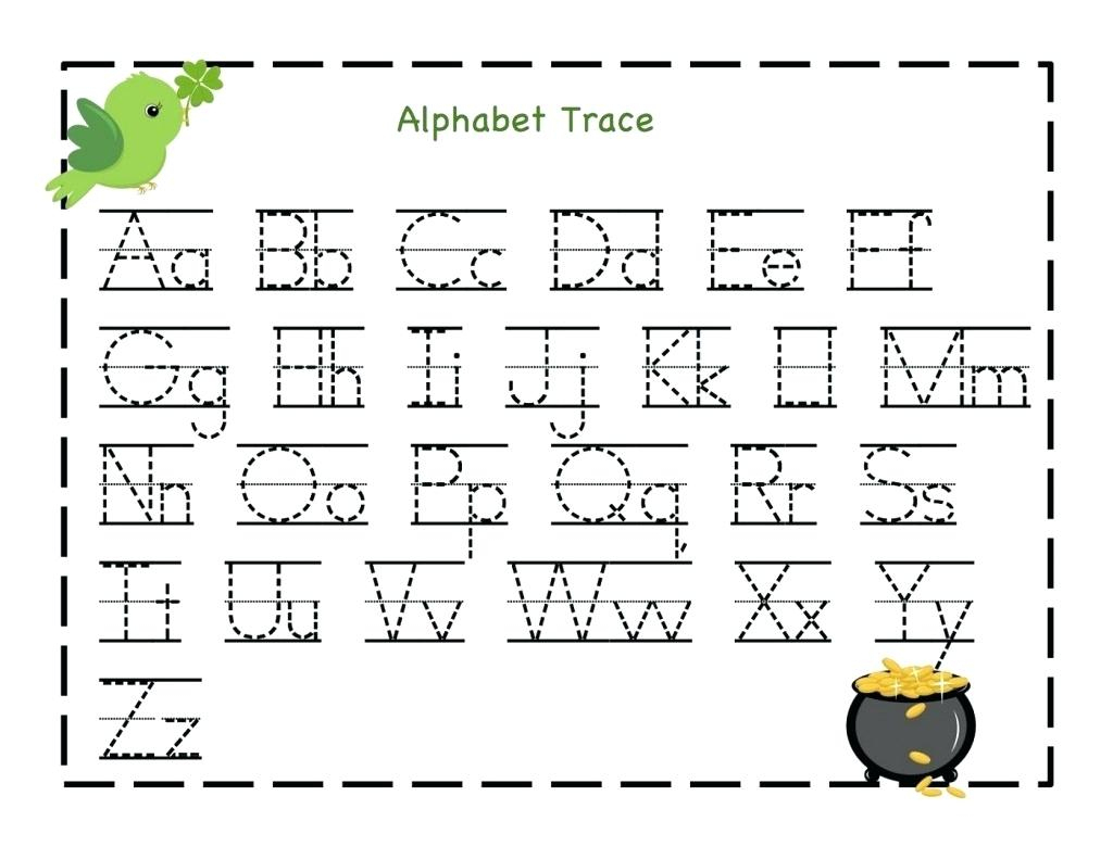 Free Printable Tracing Worksheets With Preschool Abc