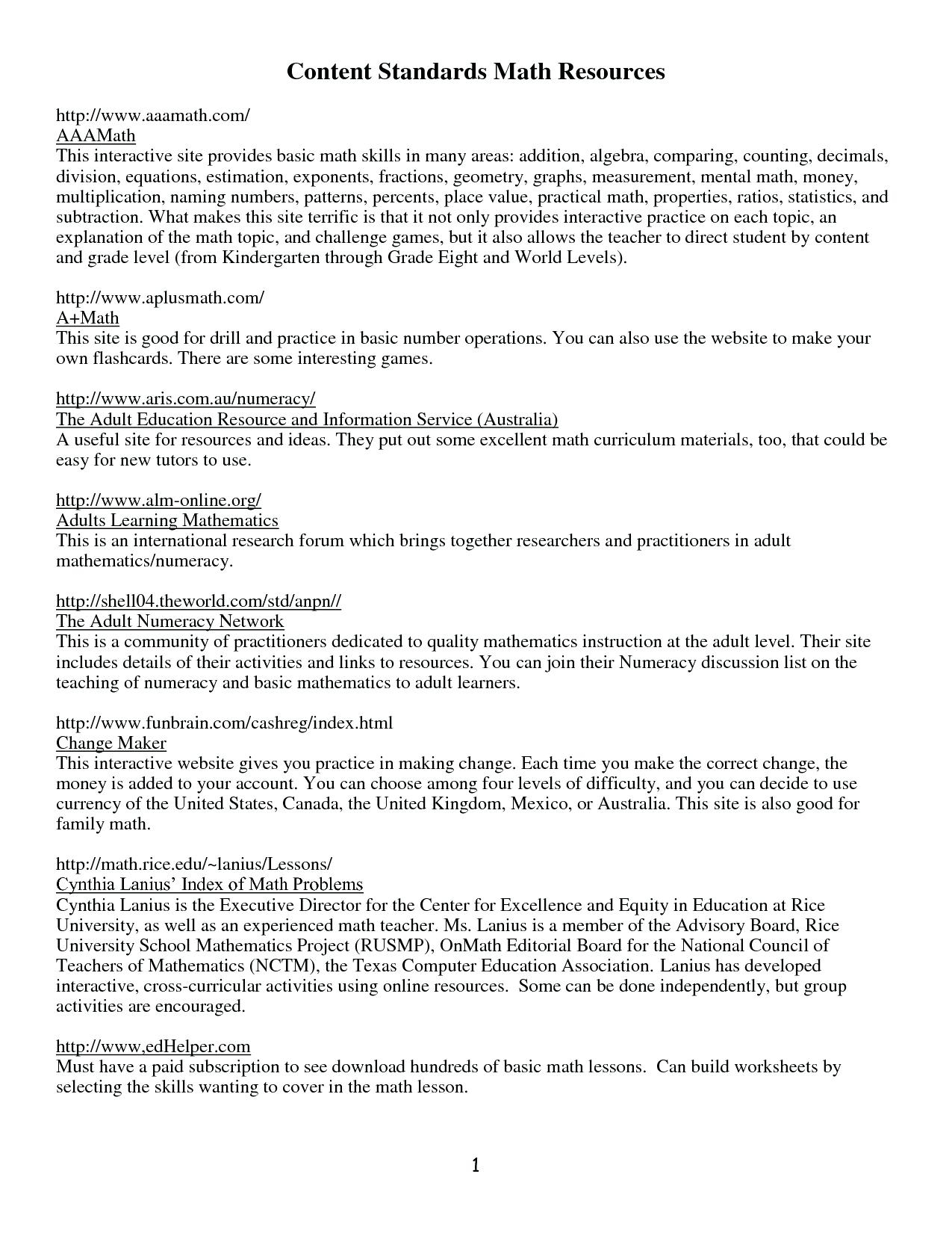 Free Printable Ged Worksheets