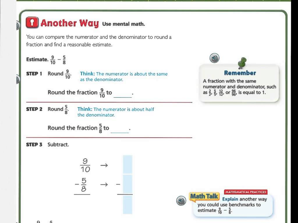 Go Math Printable Worksheets