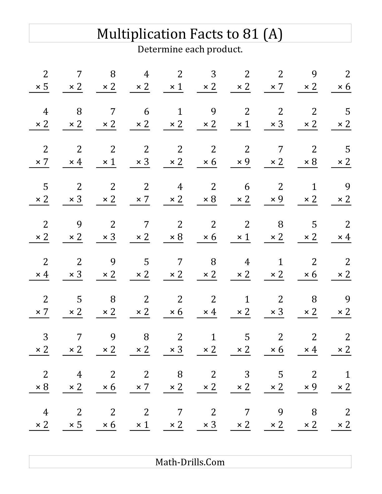 Printable Timed Math Worksheets