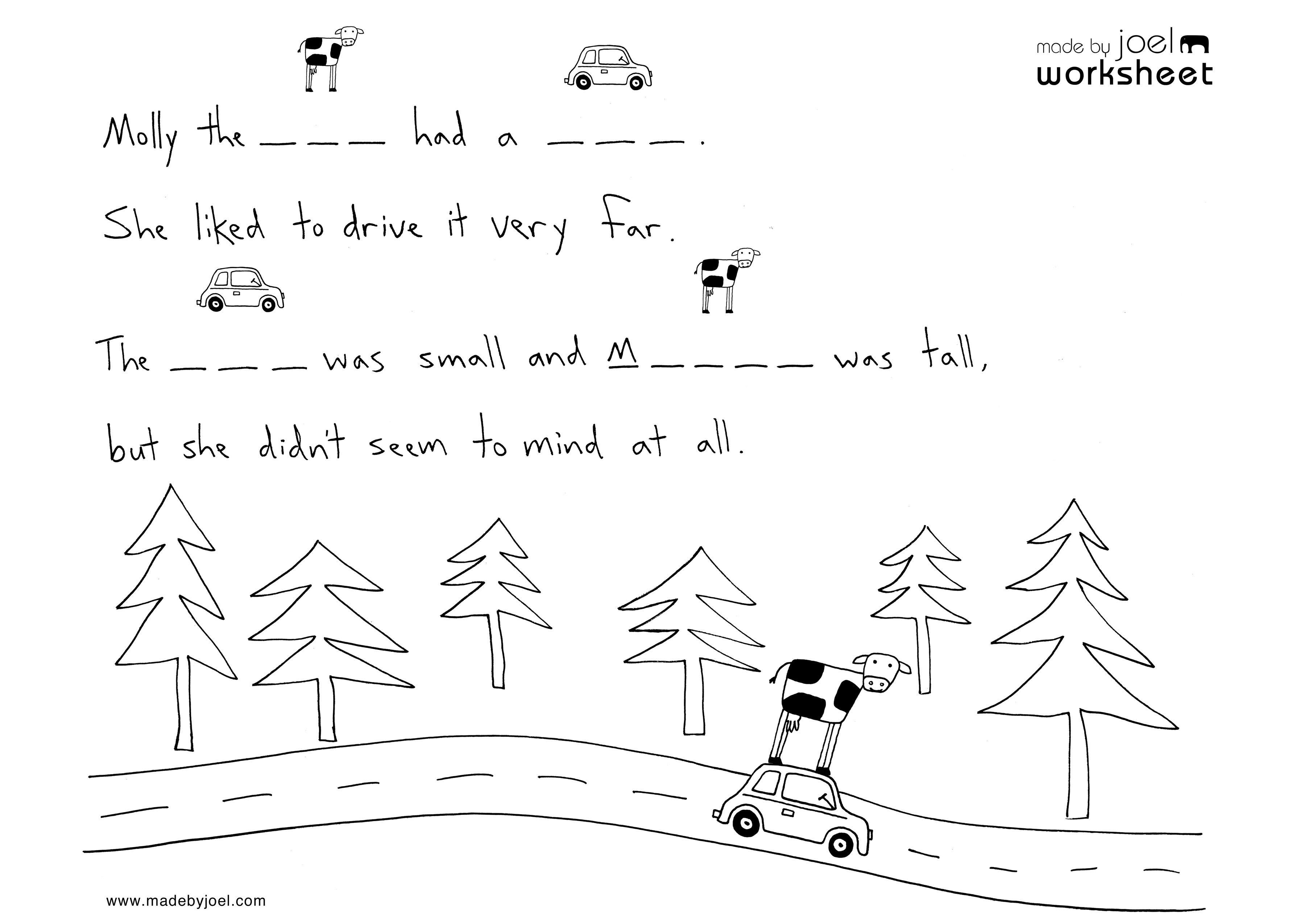 Spring Spelling Worksheet