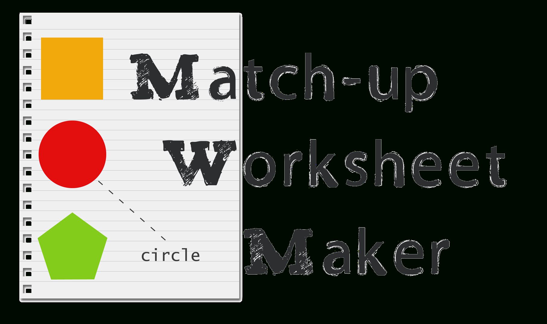 Match Up Worksheet Maker