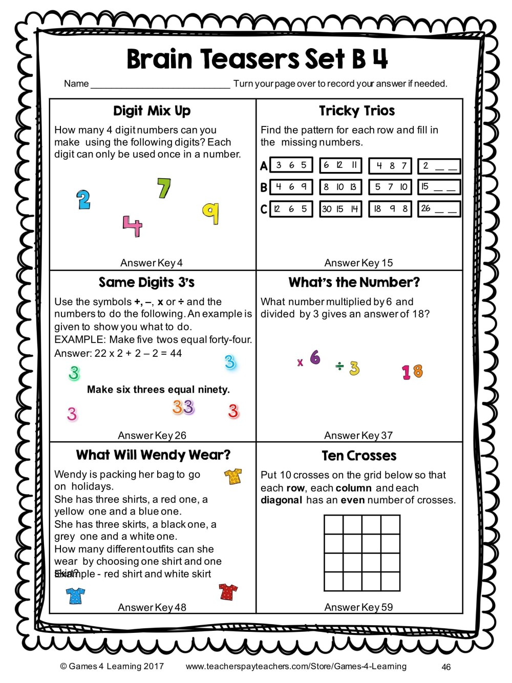 medium resolution of Math Puzzles Worksheets   Printable Worksheets and Activities for Teachers