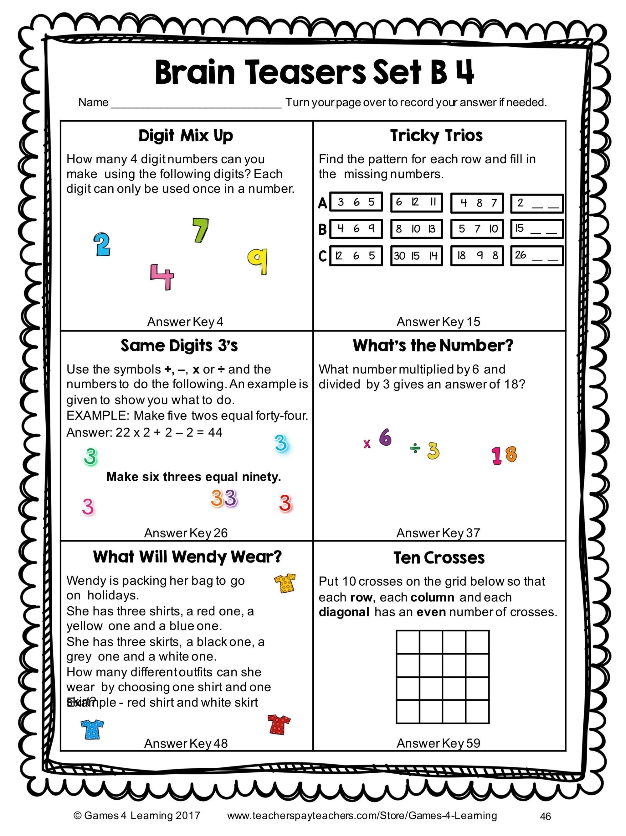 hight resolution of Math Puzzles Worksheets   Printable Worksheets and Activities for Teachers