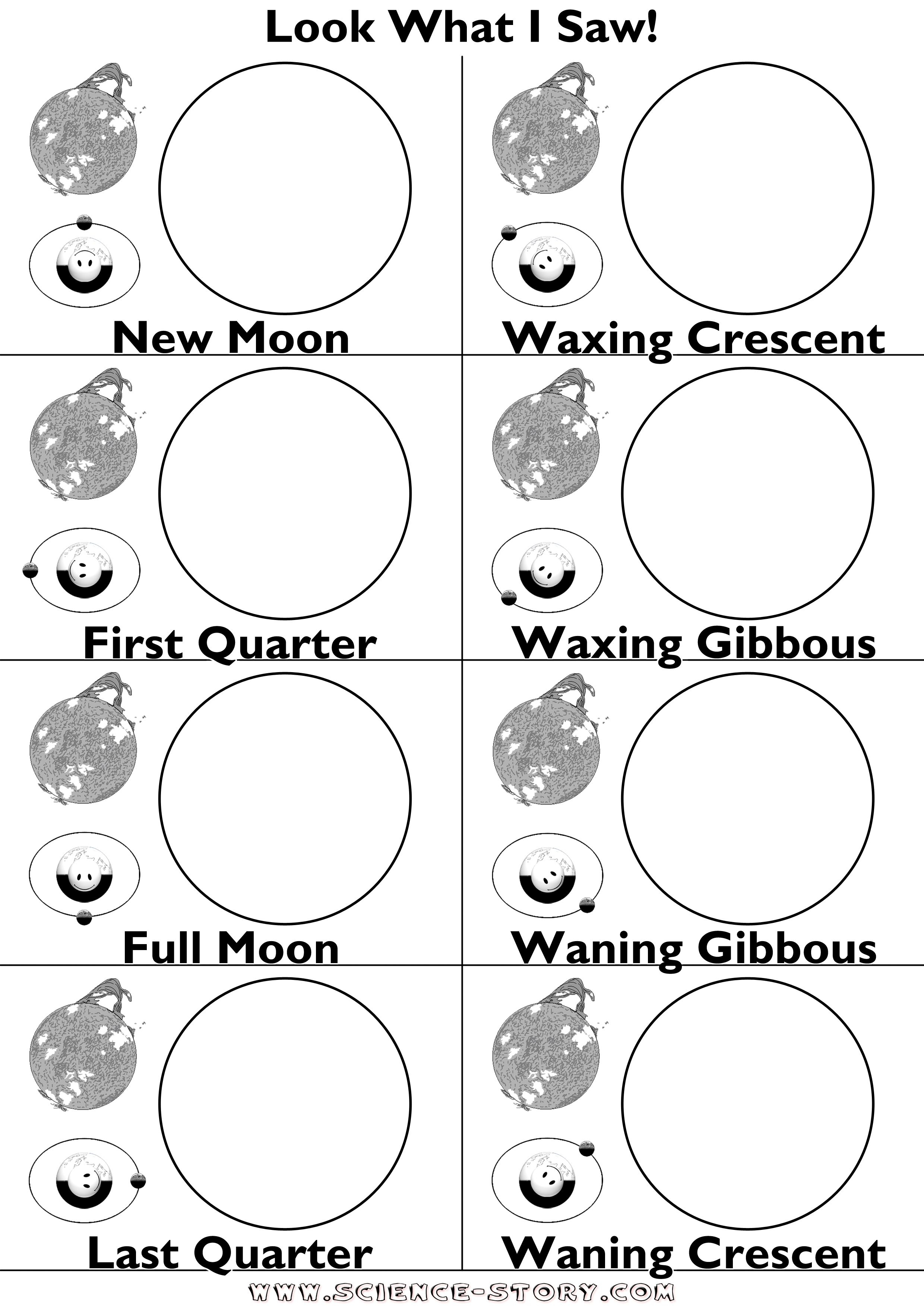 This Is A Worksheet To Show The Phases Of The Moon