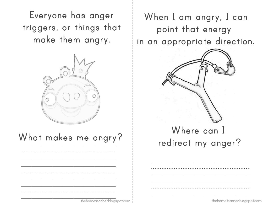 Anger Management Printable Worksheets