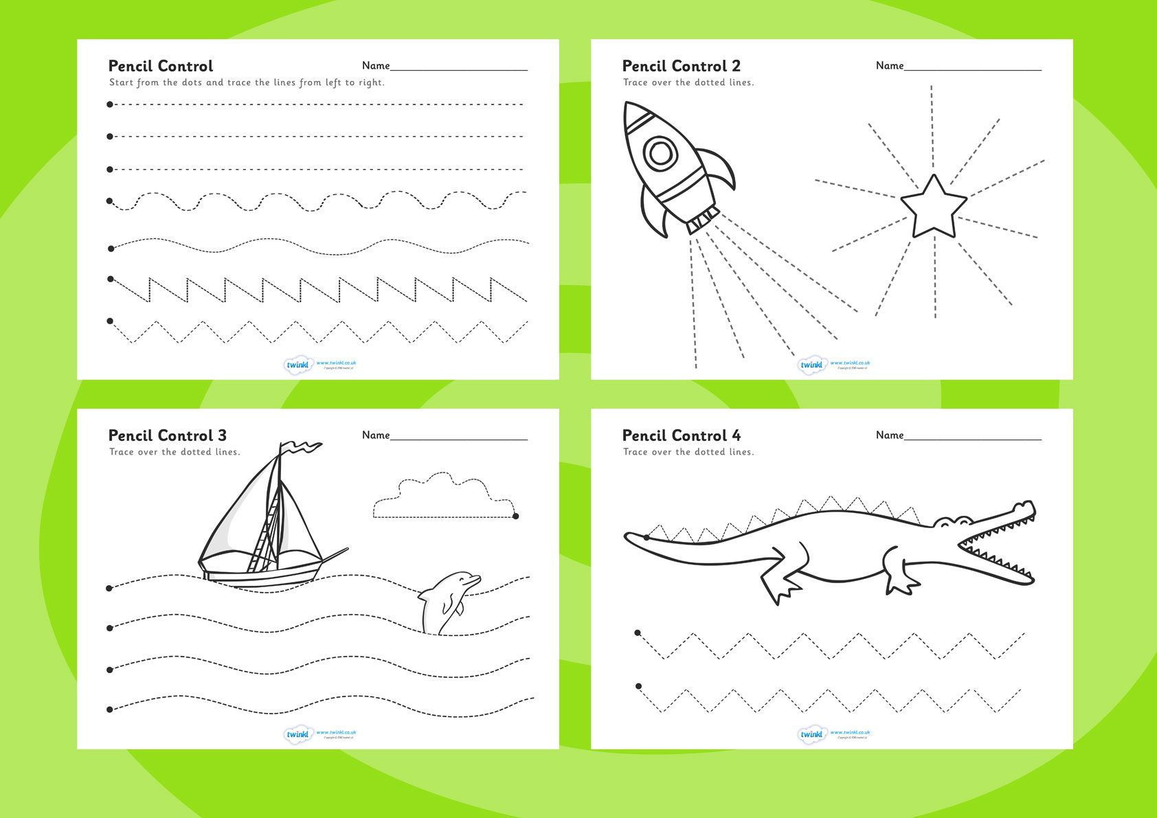 Printable Pencil Control Worksheets