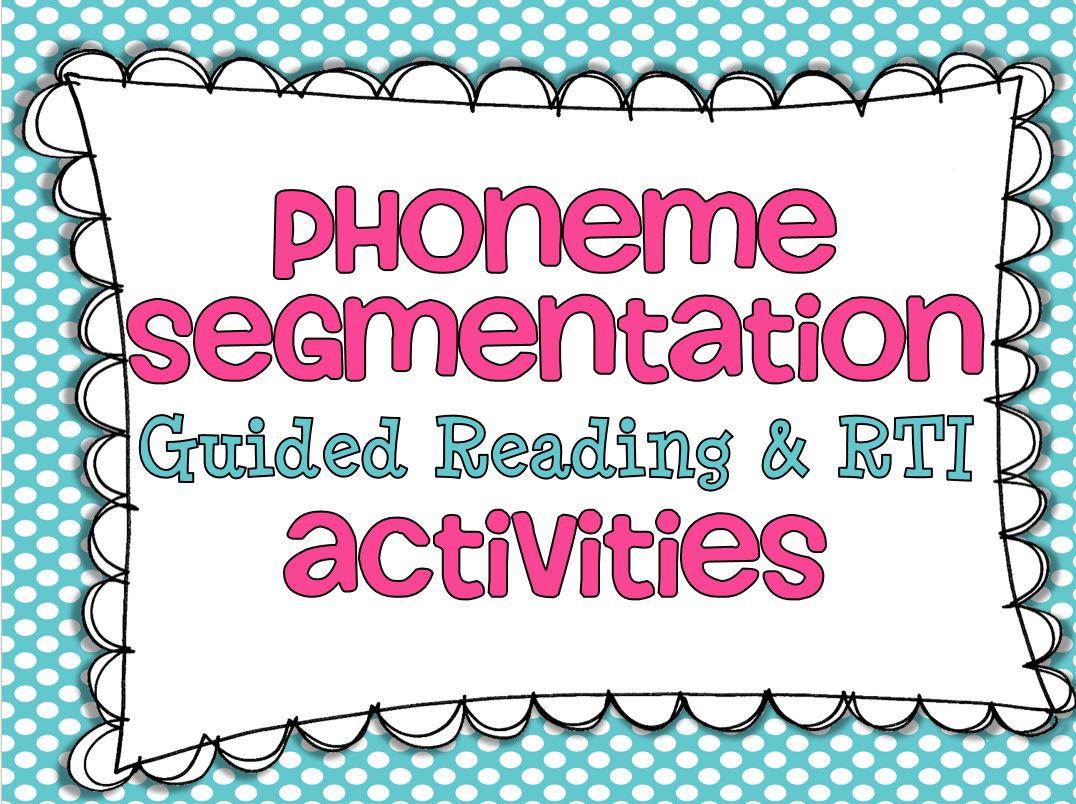 Free Printable Phoneme Segmentation Worksheets