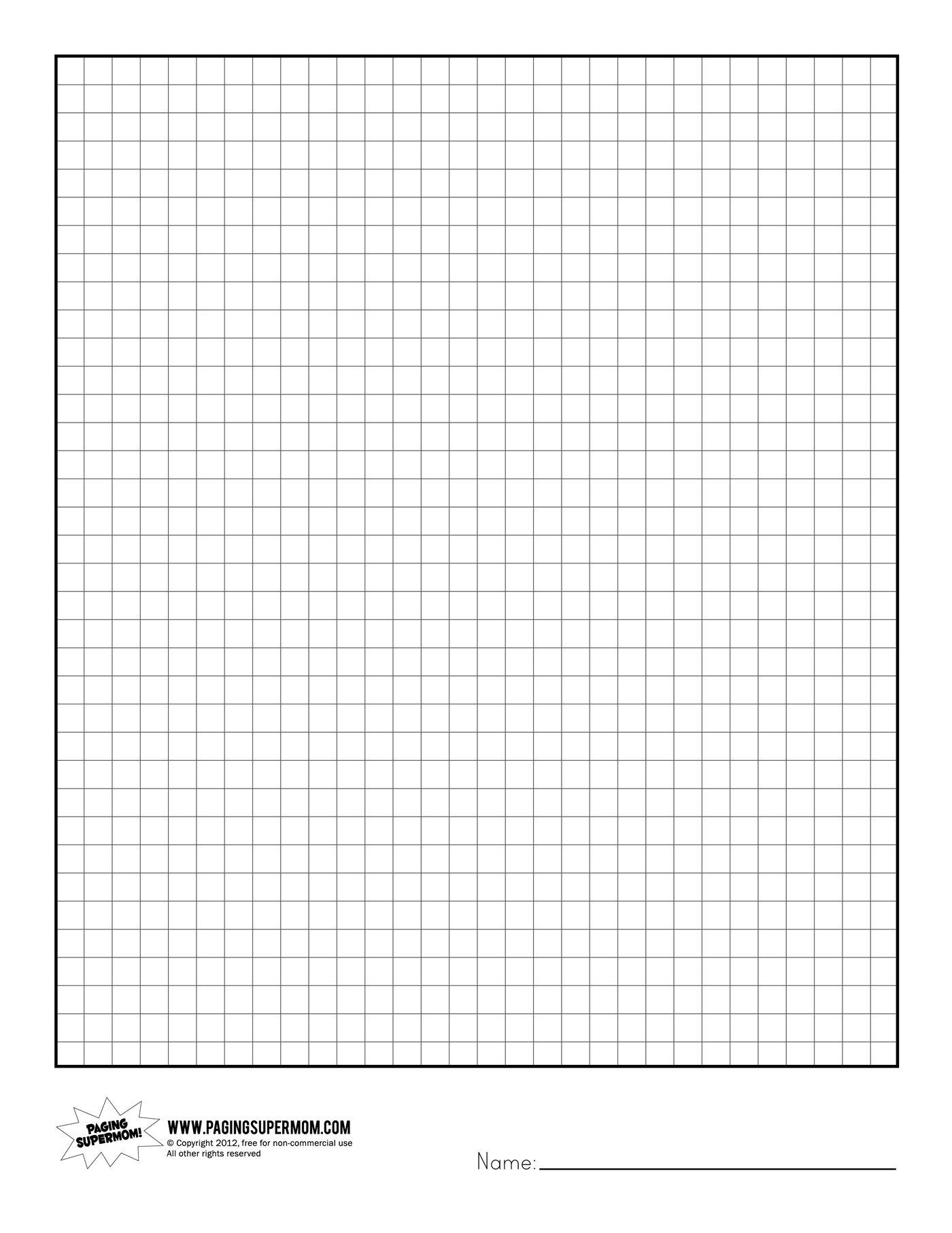 Free Printable Graph Art Worksheets