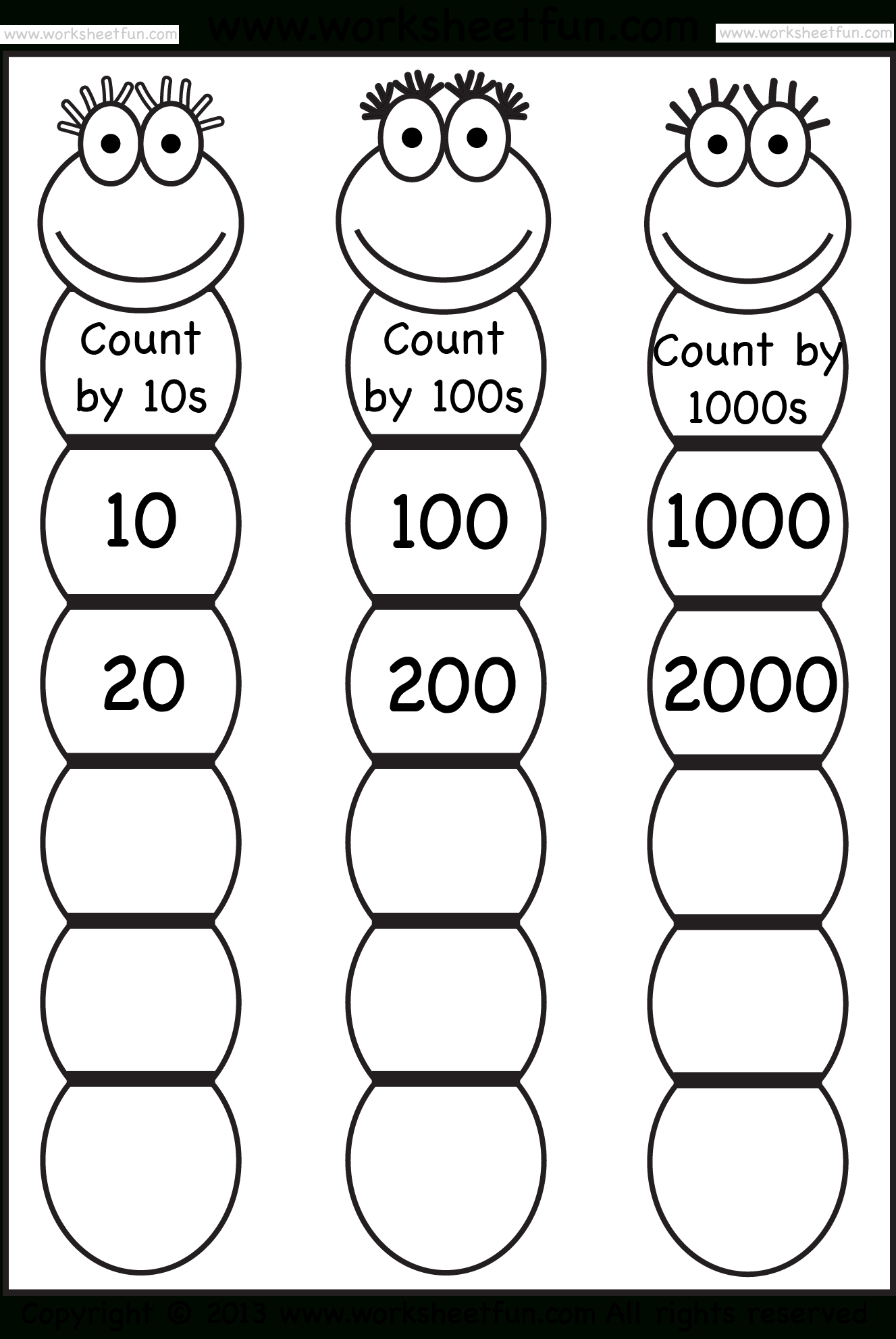 Skip Counting2 3 And 4 Worksheet Free Printable