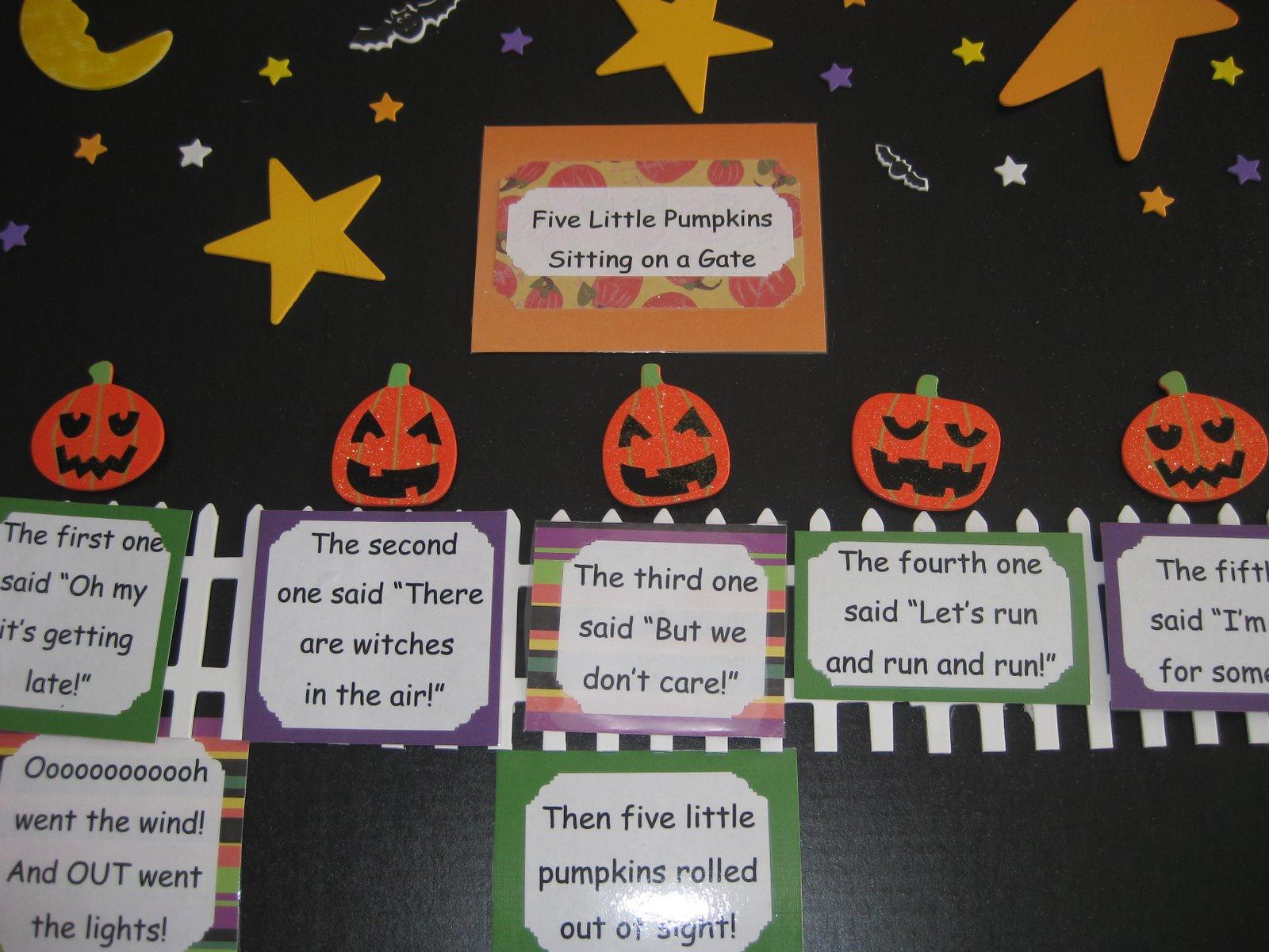 Five Little Pumpkins Printable Worksheet