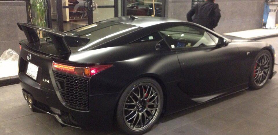 Worlds Only Matte Black Lexus LFA Nrburgring Edition  Lexus Enthusiast