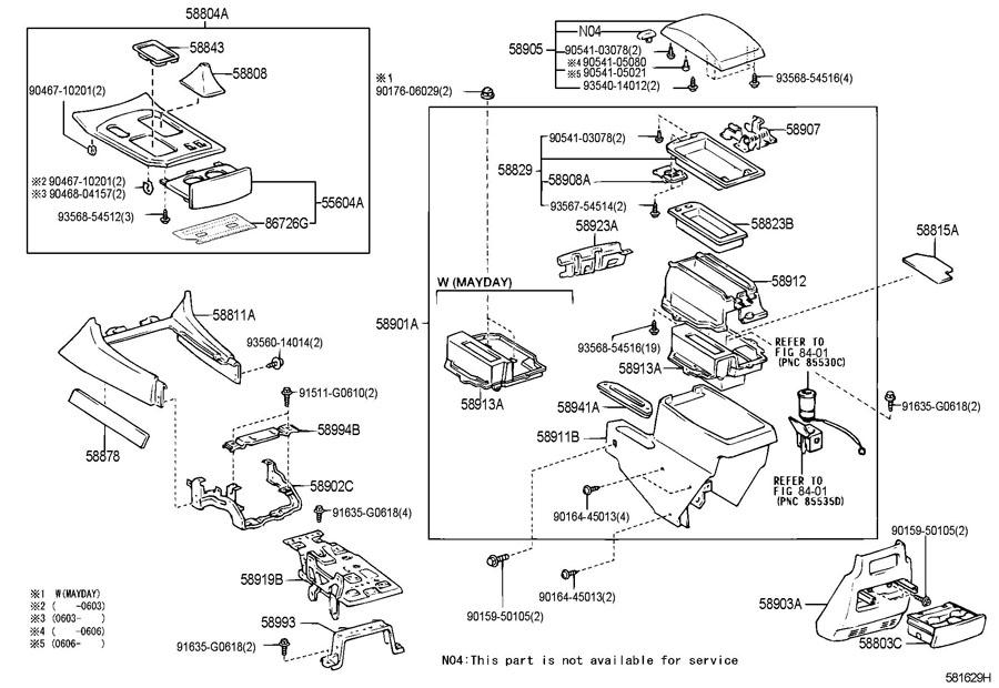 LEXUS LX470 4700CC 32-VALVE DOHC EFI, AUTOMATIC 5-SPEED