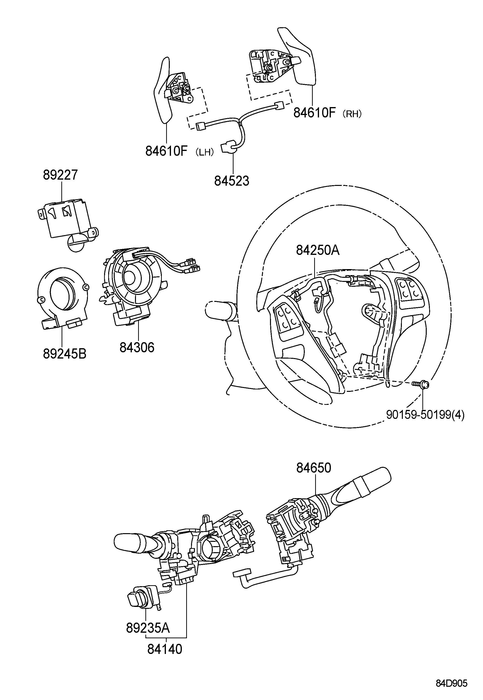 Lexus Ls600hl Sedan 4 Door Cc 32 Valve Dohc Efi Automatic Atm Stepless Switch Amp Relay