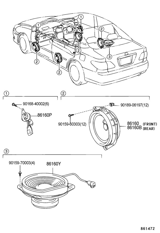 Lexus 2002 Es300 Speakers Diagram, Lexus, Free Engine