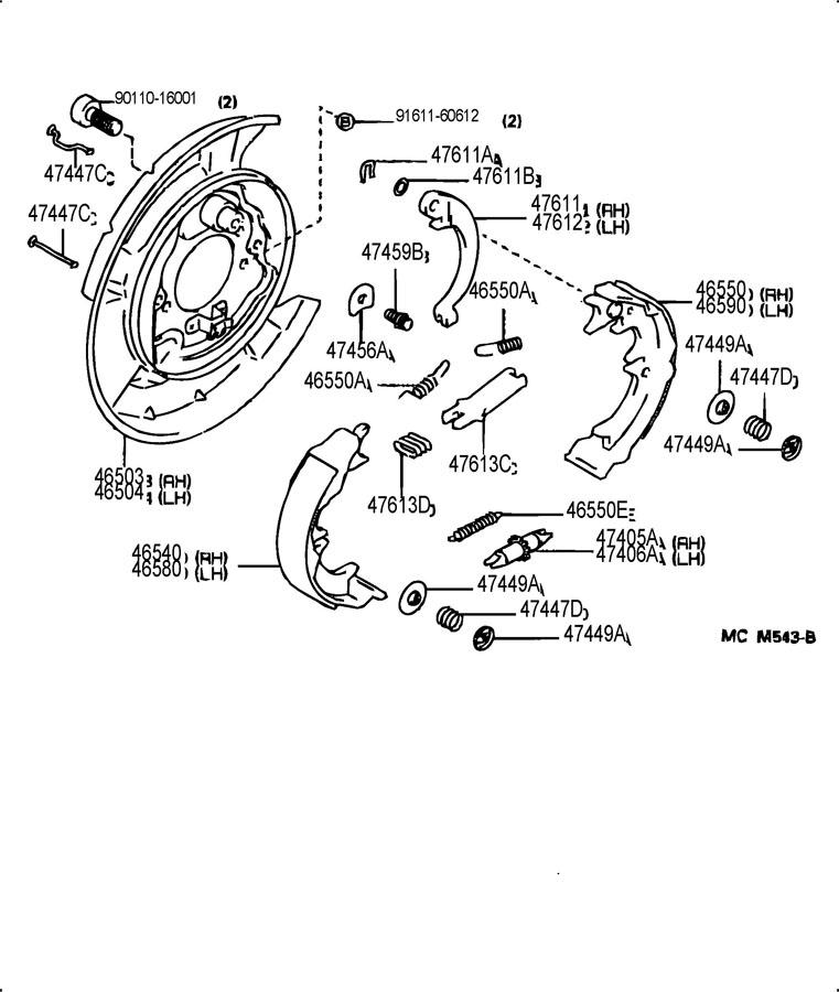 1993 LEXUS GS300 PARKING BRAKE & CABLE